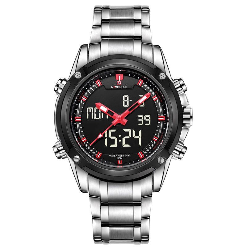2c9c4de196b Luxury Brand Men Military Sports Watches Men s Quartz LED Digital Hour  Clock Male Full Steel Wrist