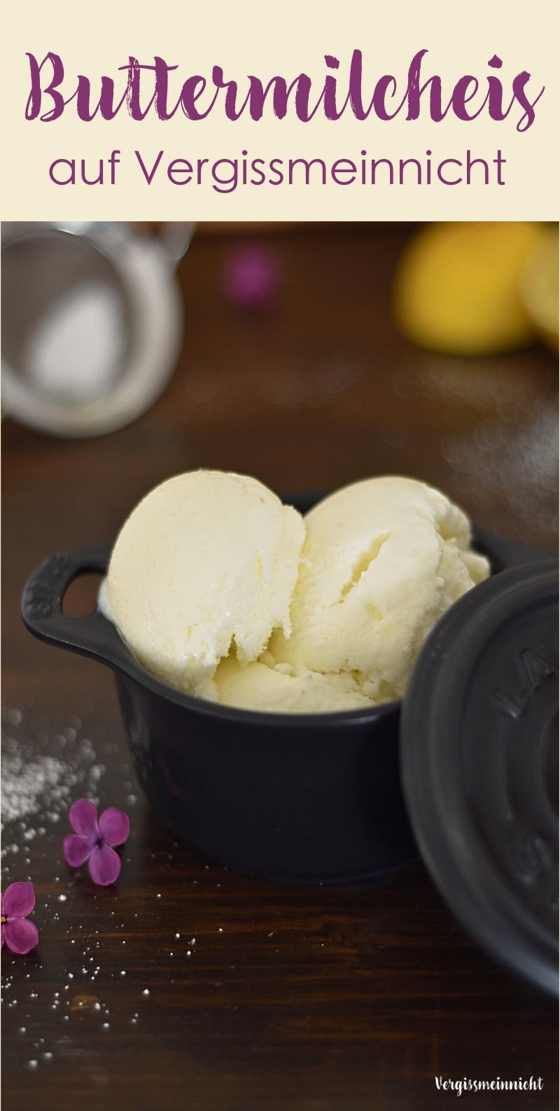 Buttermilcheis - ein Rezept meiner Mama - Vergissmeinnnicht