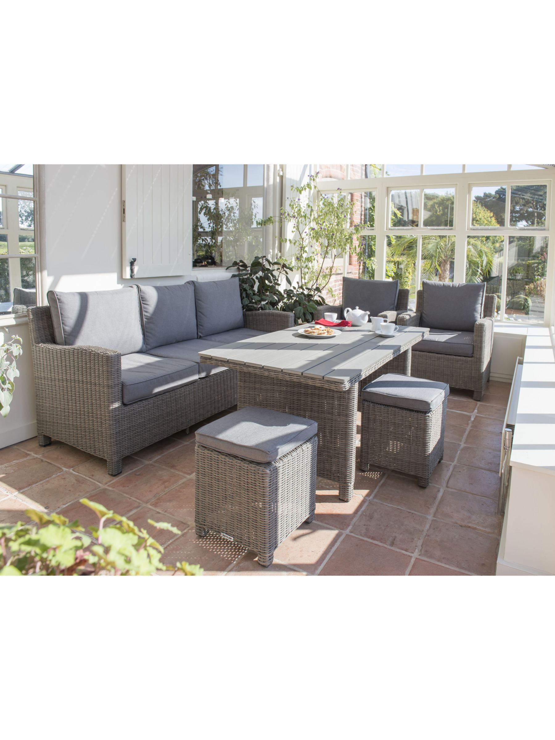 KETTLER Palma 8 Seater Garden Lounge / Dining Table and Chairs Set