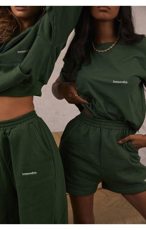 Clothing : Tops : 'Quinn' Green Oversized Cotton J