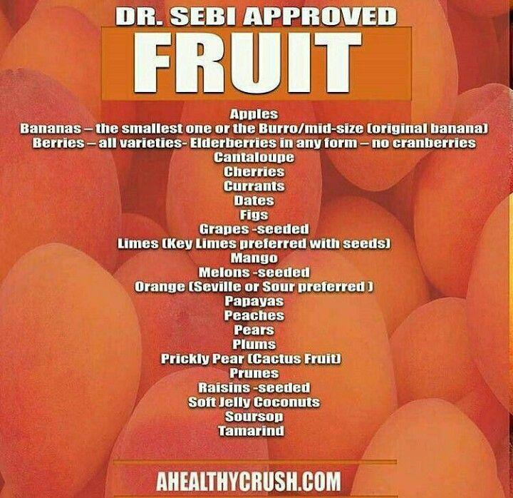 Dr sebi approved fruit dr sebi nutritional guide