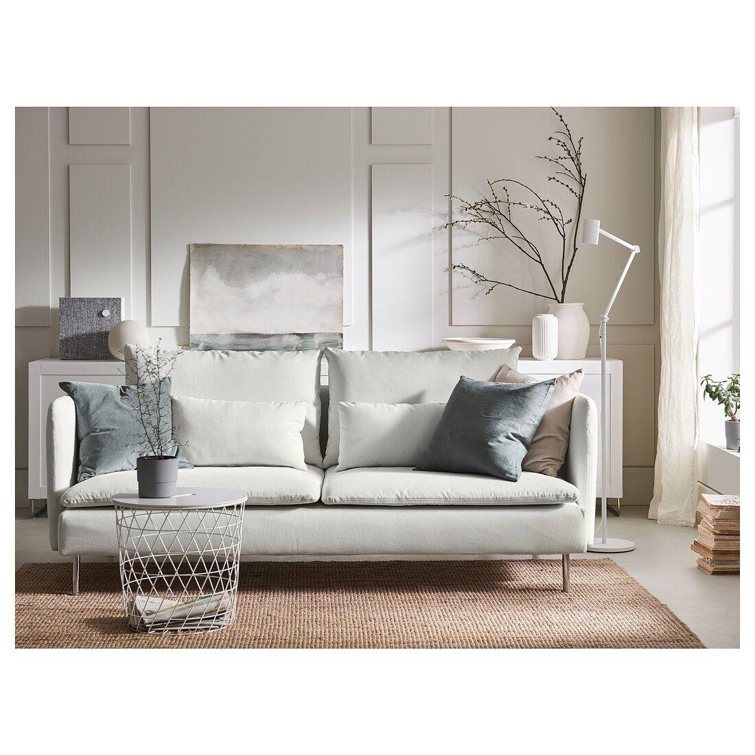 SÖDERHAMN Sofa, Finnsta white IKEA in 2020 White sofa