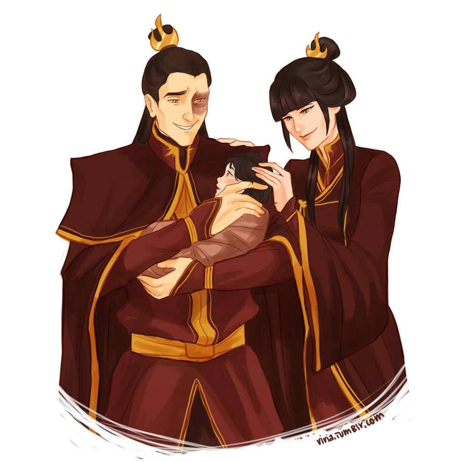 Married Zuko and Mai with their baby | Avatar the Last ...