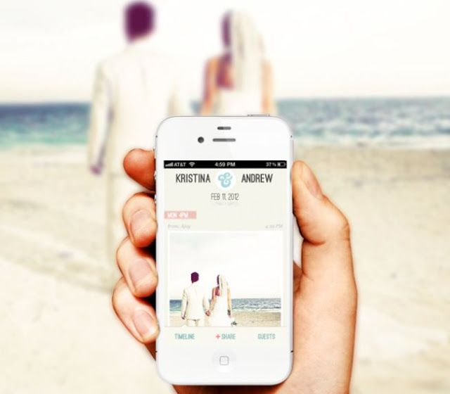 A Wedding App That Lets Your Guests Take Pictures Of On Their Iphone And