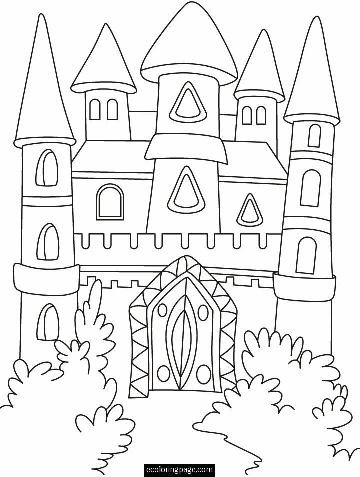 fantasy castle coloring page printable