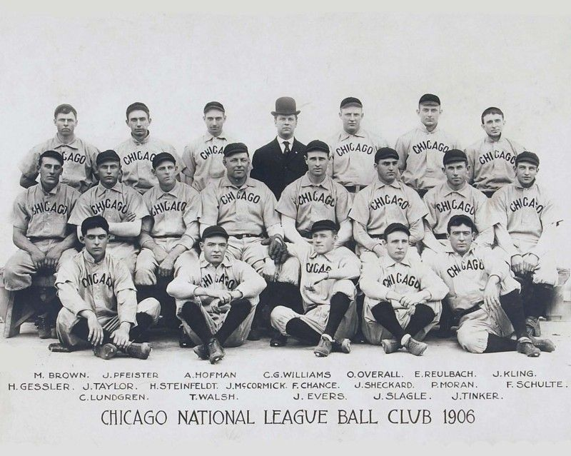 Details about Chicago Cubs 1906 NL Champs, 8x10 B&W Team