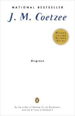 """""""Disgrace."""" 1999 Booker Prize winner about a white South African professor who is dismissed for having an affair with a student and who then witnesses an attack by three black men on his daughter at her farm.  The novel is straightforwardly written and explores the changing political landscape in South Africa as well as larger themes of communication, aging, power, and exploitation.  Well written but also a bit flat and almost lifeless."""
