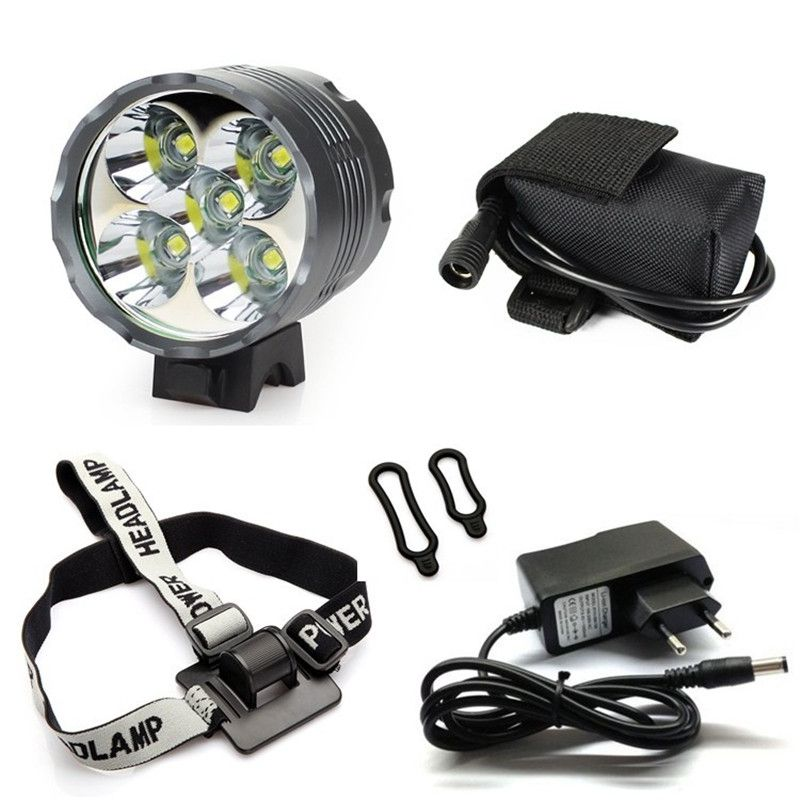 Cree Xm L 5x T6 Bicycle Light Headlight 7000 Lumen Led Bike Light