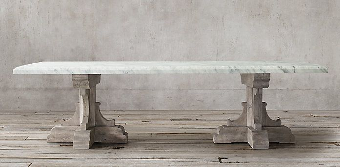 17th Century Bastide Collection Grey With Marble Rectangular