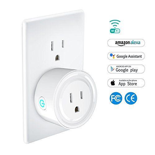 WiFi Smart Plug Wireless Outlet. WiFi Enabled Mini