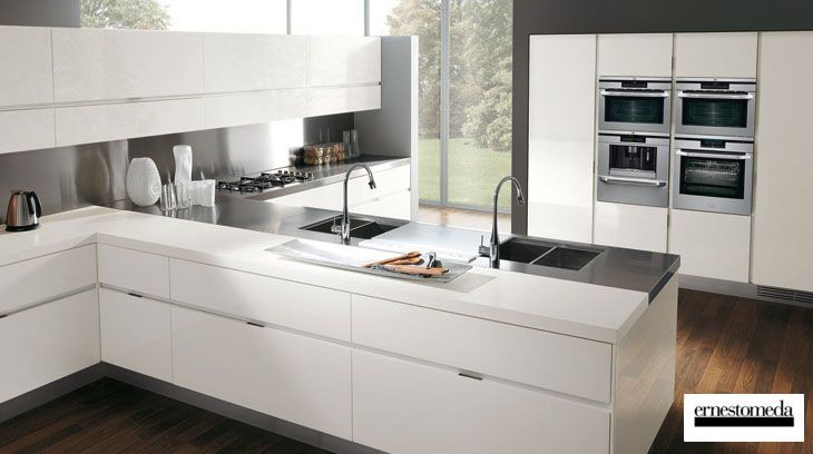 Modern Minimalist Look Italian Kitchen Design Photos