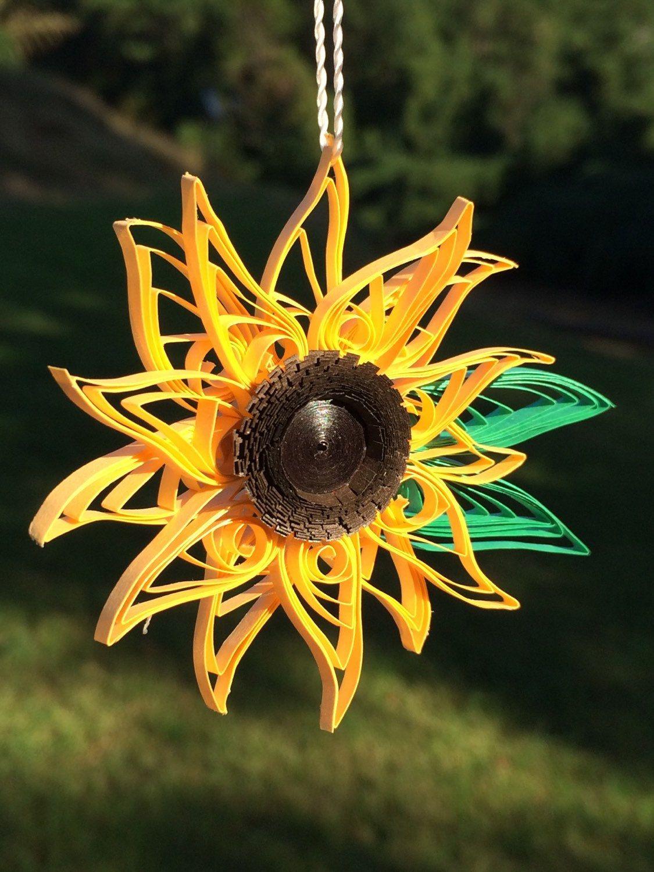 TheQuillery Ornament decor, Yellow sunflower, Sunflower tree