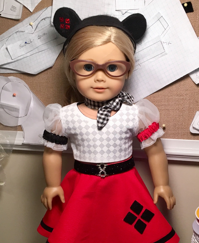 5ee978c45 1950s Harley Quinn Poodle Skirt Mouseketeer Hat   Betty Allan ...