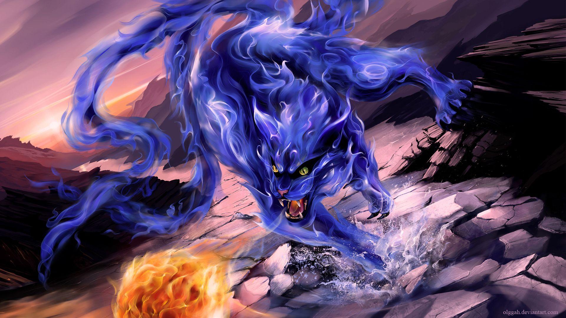 Anime Bijuu Nibi Olggah Tailed Beast Art 1920×1080 Наруто