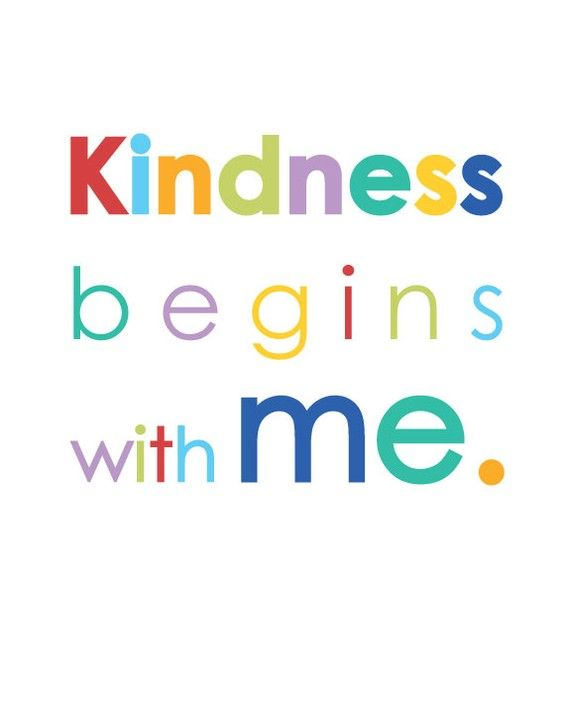 Kindness Begins with Me 8x10 print by TheStakerStore on Etsy ...