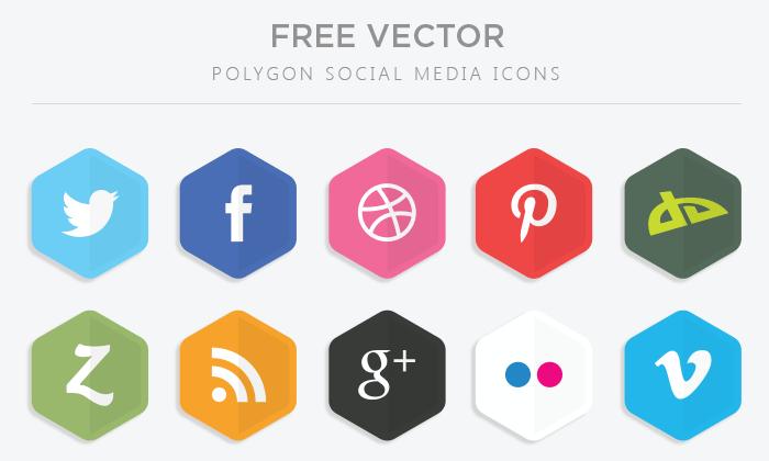 Polygon Vector Social Media Icons Social Network Icons Social Media Logos Social Media Icons