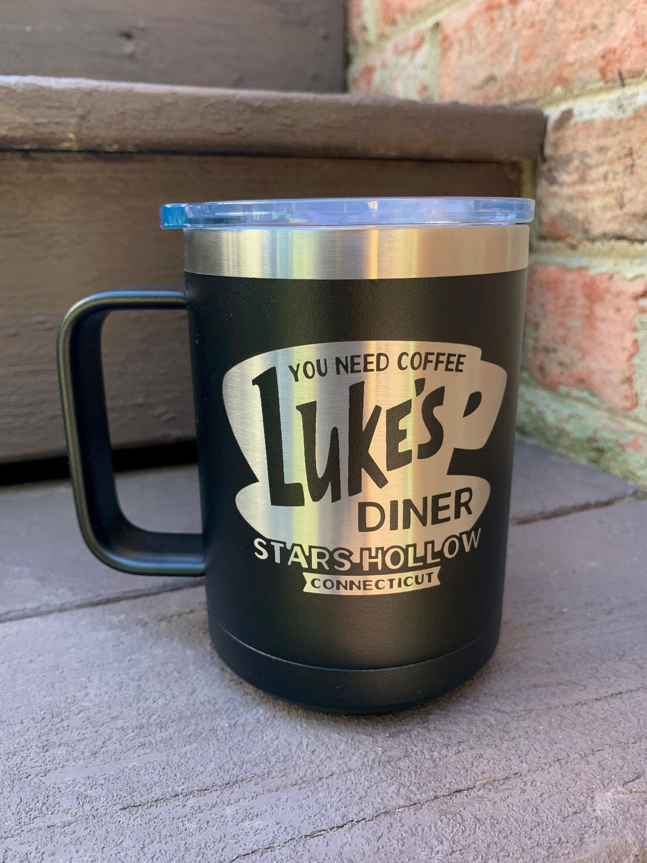 Luke's Diner Coffee Mug Gilmore Girls Tea Stars Hollow Connecticut TV Show Cup
