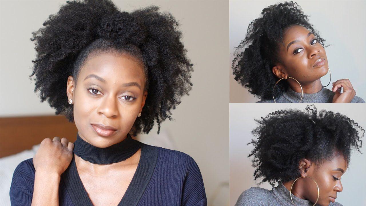 Half Up Half Down Top Knot Bun On Natural Hair Naturalhairstyles Beautyblog Ma B Natural Hair Styles Natural Hair Twist Out Curly Hair Styles Naturally