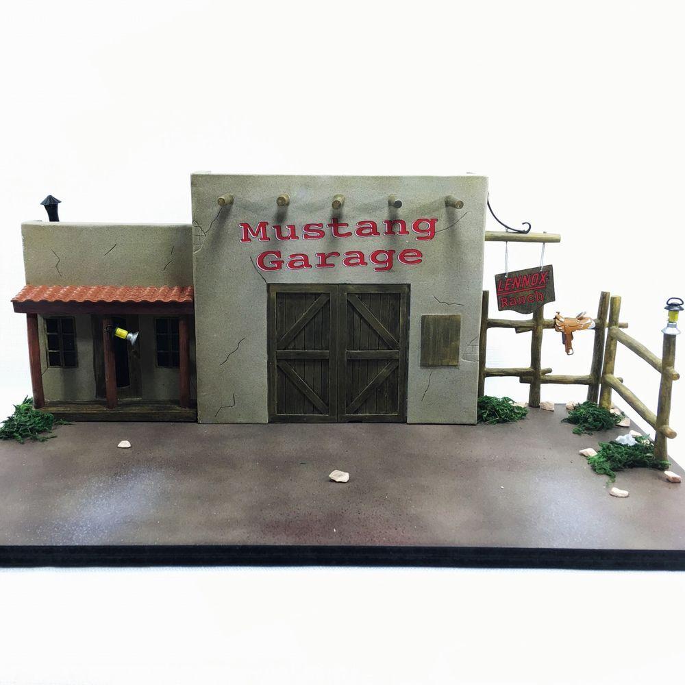 Rare Lennox Mustang Garage Diorama Diecast Car Display For