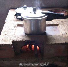 Haz tu propia estufa ahorradora de le a con barro for Estufas de lena para cocinar