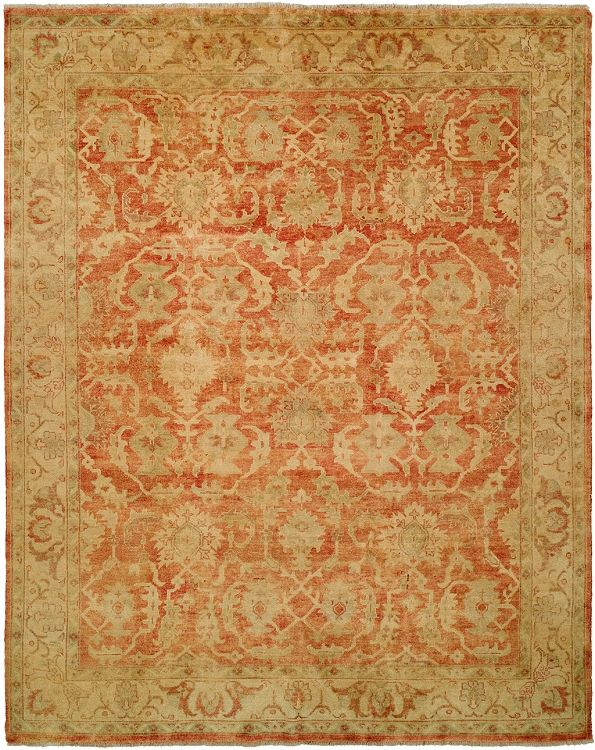 Oushak Crown 9x12 Hand Knotted Persian Style Wool Area Rug Pattern 260 Red U0026