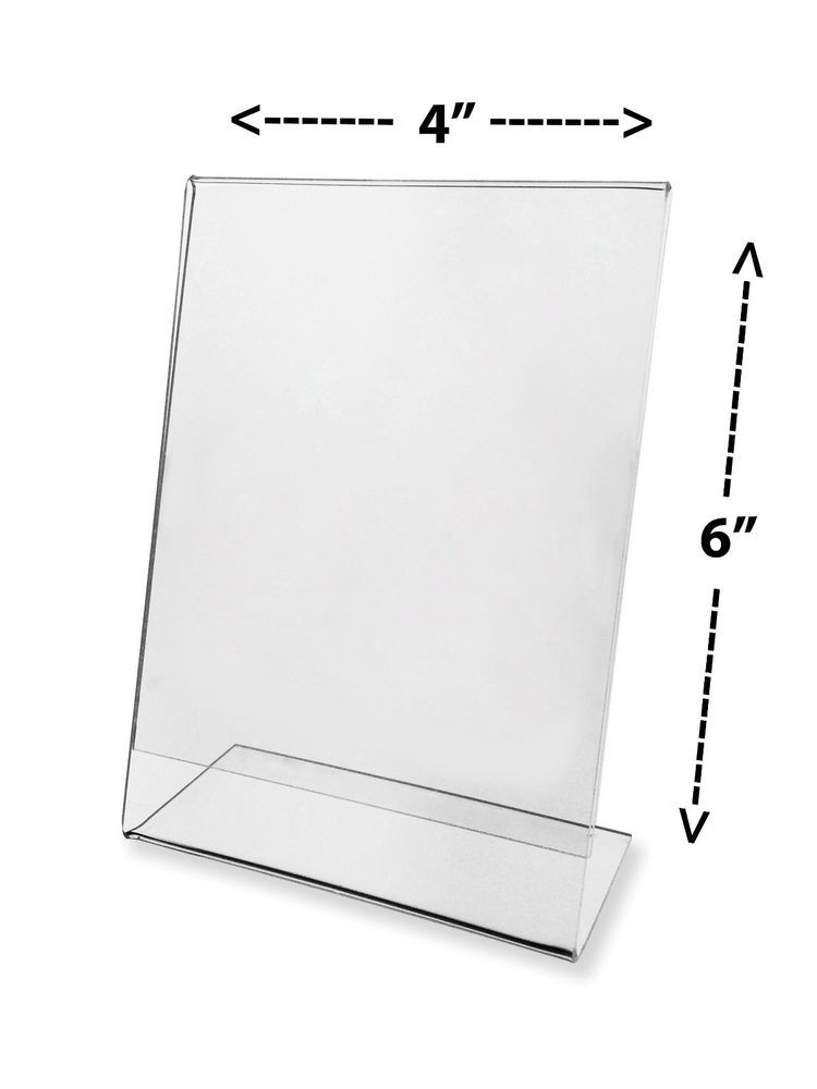 1 Clear Acrylic 4 x 6 Sign Display Holder Picture Frame Wholesale ...