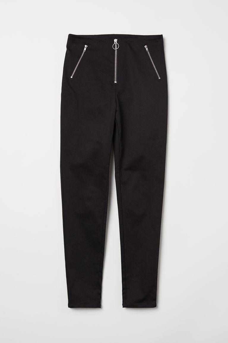 Stretch trousers - Black - Ladies   H&M GB   Pantalones de ...
