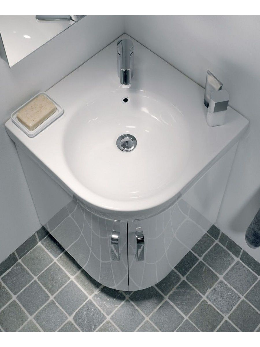 Toilet on pinterest corner bathroom sinks corner sink bathroom - Twyford 500 White Corner Vanity Unit And Basin Floor Standing