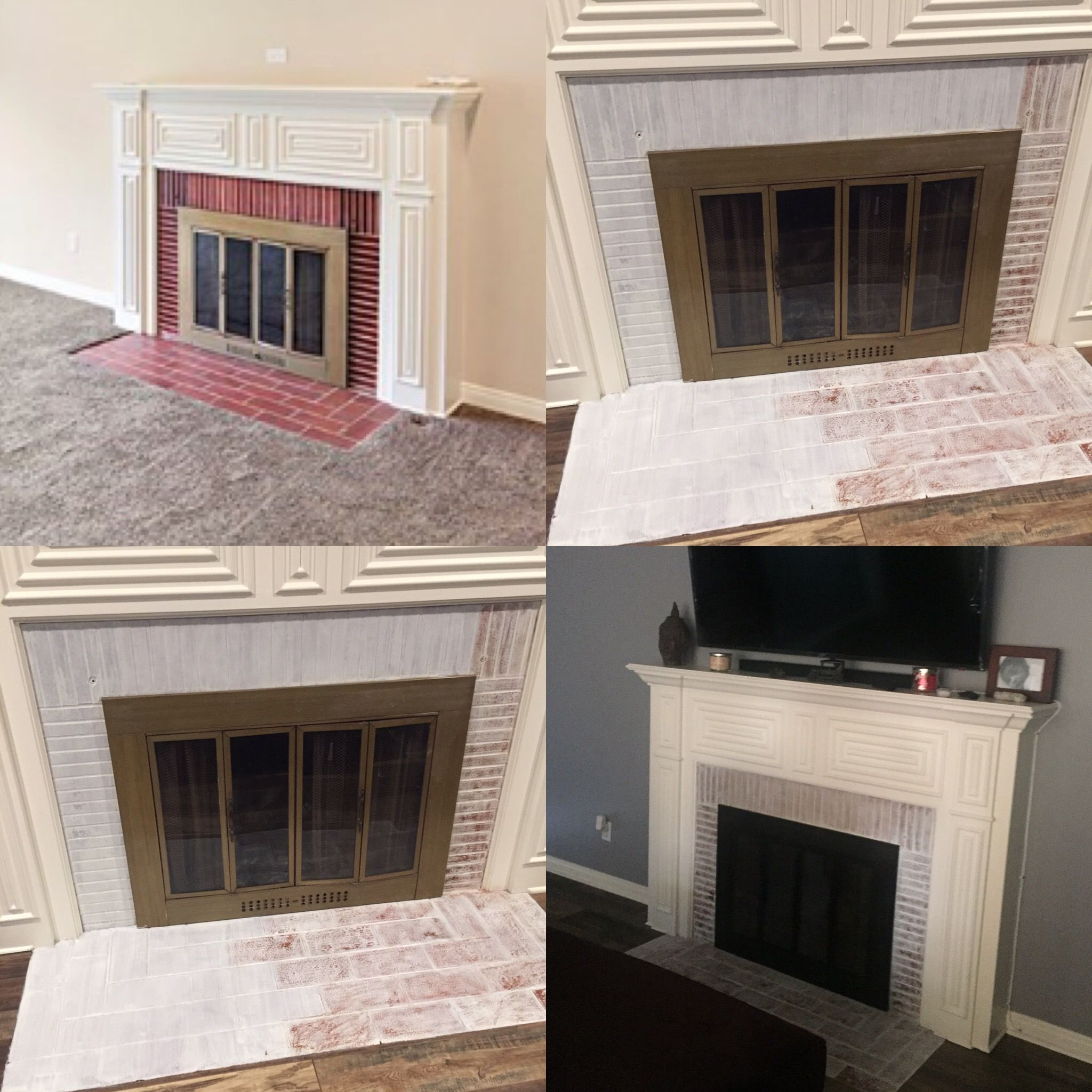 white wash fireplace gone wrong we mixed 3 part water with one