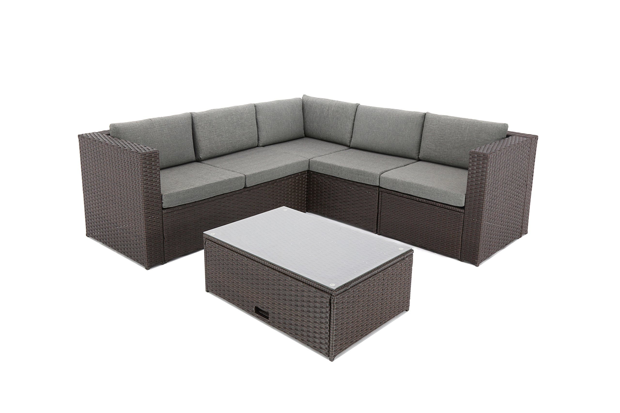88a9cab284ef Baner Garden K35CH 4 Pieces Outdoor Furniture Complete Patio Cushion Wicker  Rattan Garden Corner Sofa Couch Set Chocolate *** To view further for this  item, ...