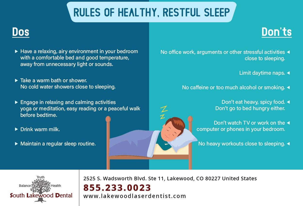 A good nights sleep is essential for a healthy body and