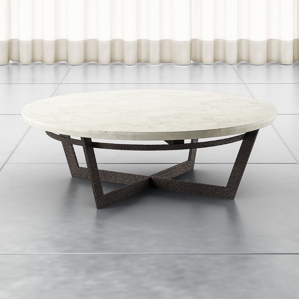 Verdad Round White Marble Coffee Table Crate And Barrel In 2020 Marble Round Coffee Table Marble Coffee Table Coffee Table [ 1000 x 1000 Pixel ]