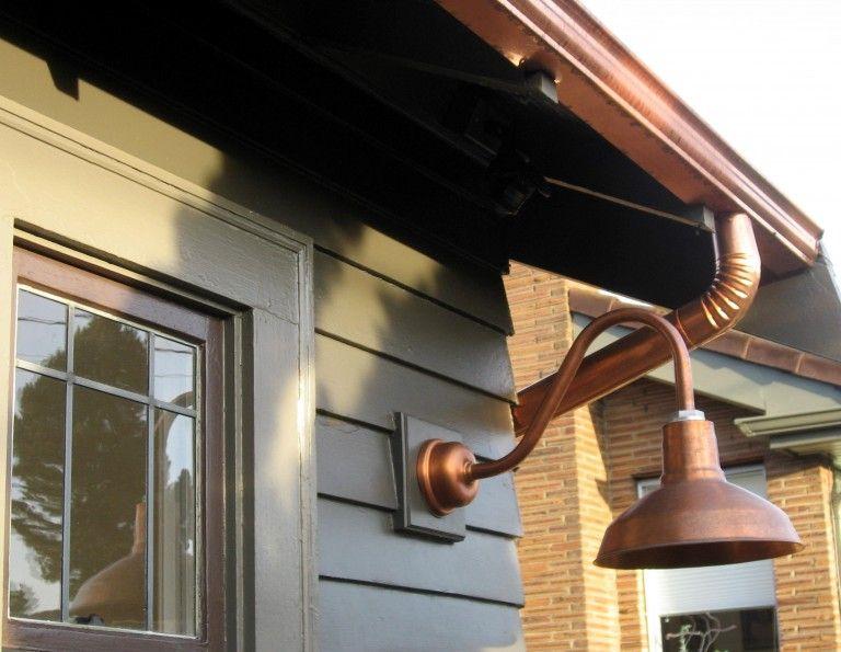 Featured Customer Copper Gooseneck Lighting For 1920s Craftsman Style Home Exterior Light Fixtures Gooseneck Lighting Copper Lighting