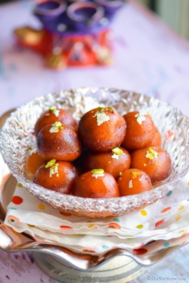 Easy Indian Gulab Jamun With Milk Powder Recipe Chefdehome Com Easy Gulab Jamun Recipe Recipes Food