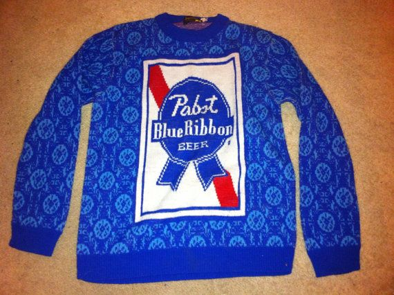 Pabst Blue Ribbon Vintage Sweater Part Of Me Really Wants This