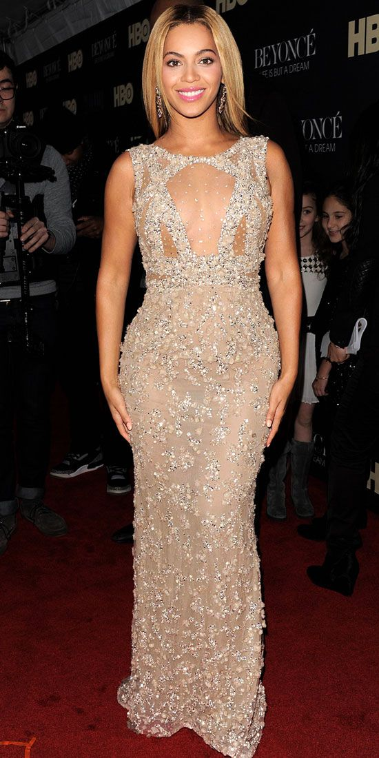Beyonce worked every angle of her embellished Elie Saab Haute ...