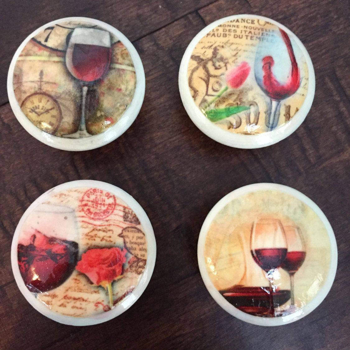 1.5 Inch Wine Themed Cabinet Knobs, Drawer Pulls By HolyChicBoutiqueCo On  Etsy Https:/