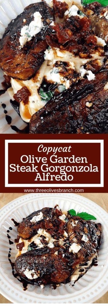 Copycat Steak Gorgonzola Alfredo  #beefsteakrecipe