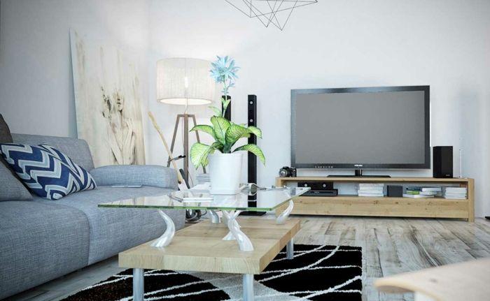 Wohnideen Wohnzimmer Fernseher 1001 sofa grau beispiele warum sie ein sofa genau
