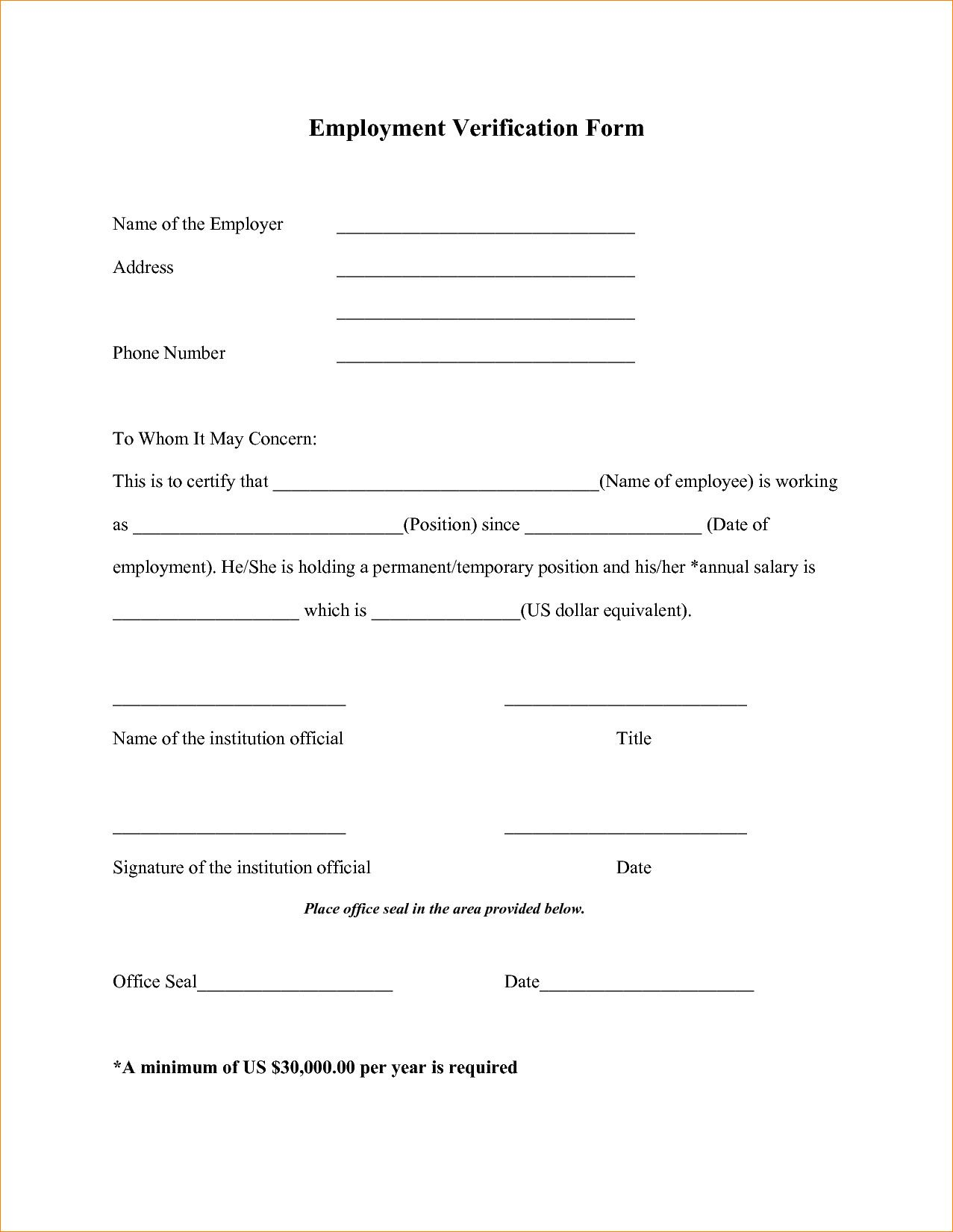 Free Employee Verification Form Template New 4 Employment Verification Form Template Employment Form Simple Cover Letter Template Cover Letter Template Free Free employee verification form template