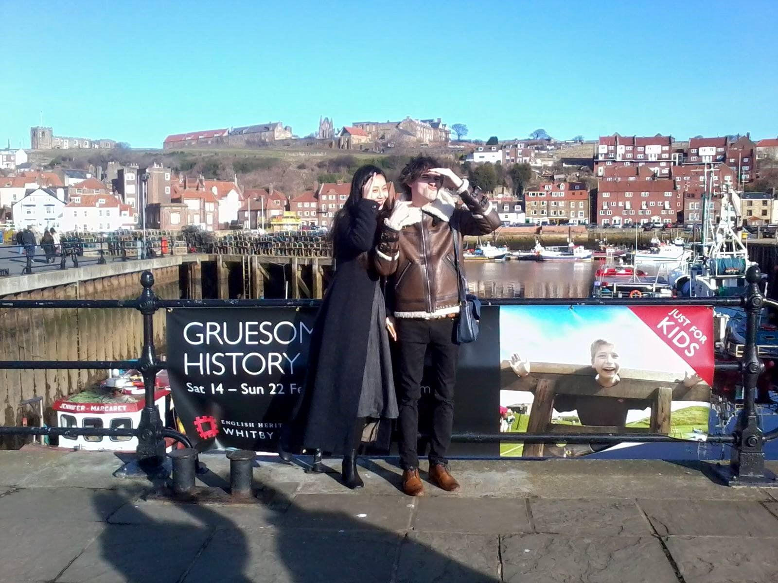 February 2015: Jin Jin's first time visit in Whitby.