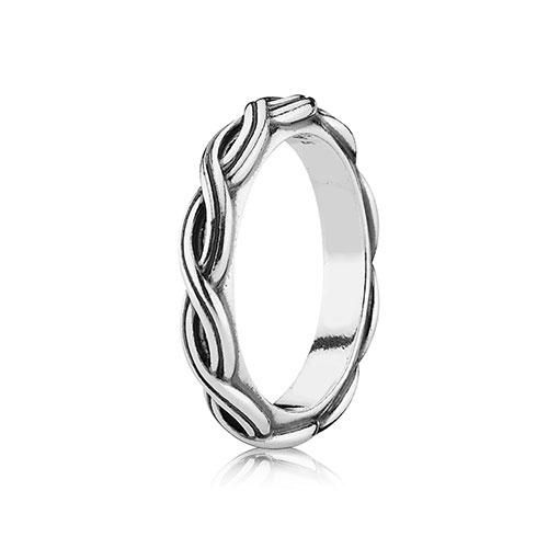 ef8cdc17c Pandora Silver cross-over design Celtic Band Stacker Ring. Part of the Pandora  Stories collection.