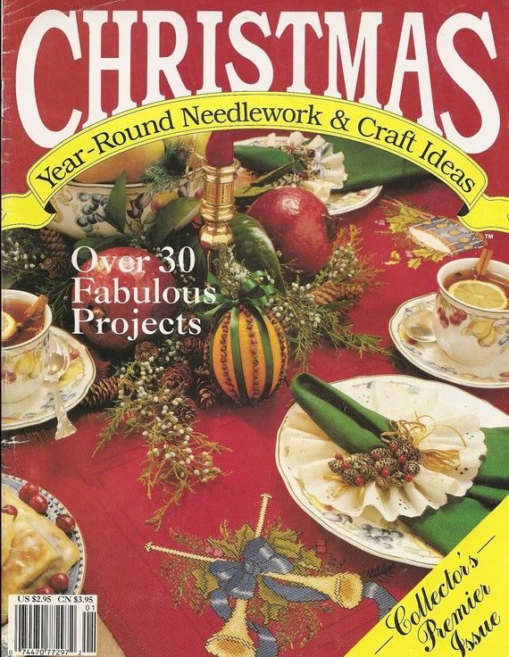 Vintage Christmas Needlework and Craft ideas Collectors Premier Issue 1990