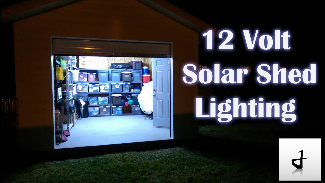 Diy solar shed lighting diy solar solar shed light shed