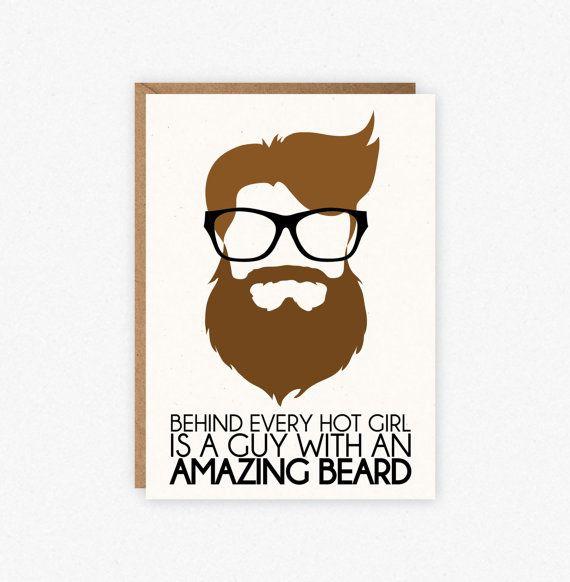 Beard Card Funny Beard Card Valentines Day Card Funny – Birthday on Valentine Day Card