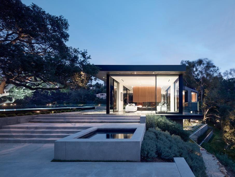 Oak Pass House Hollywood Hills Salon Mama Architektur
