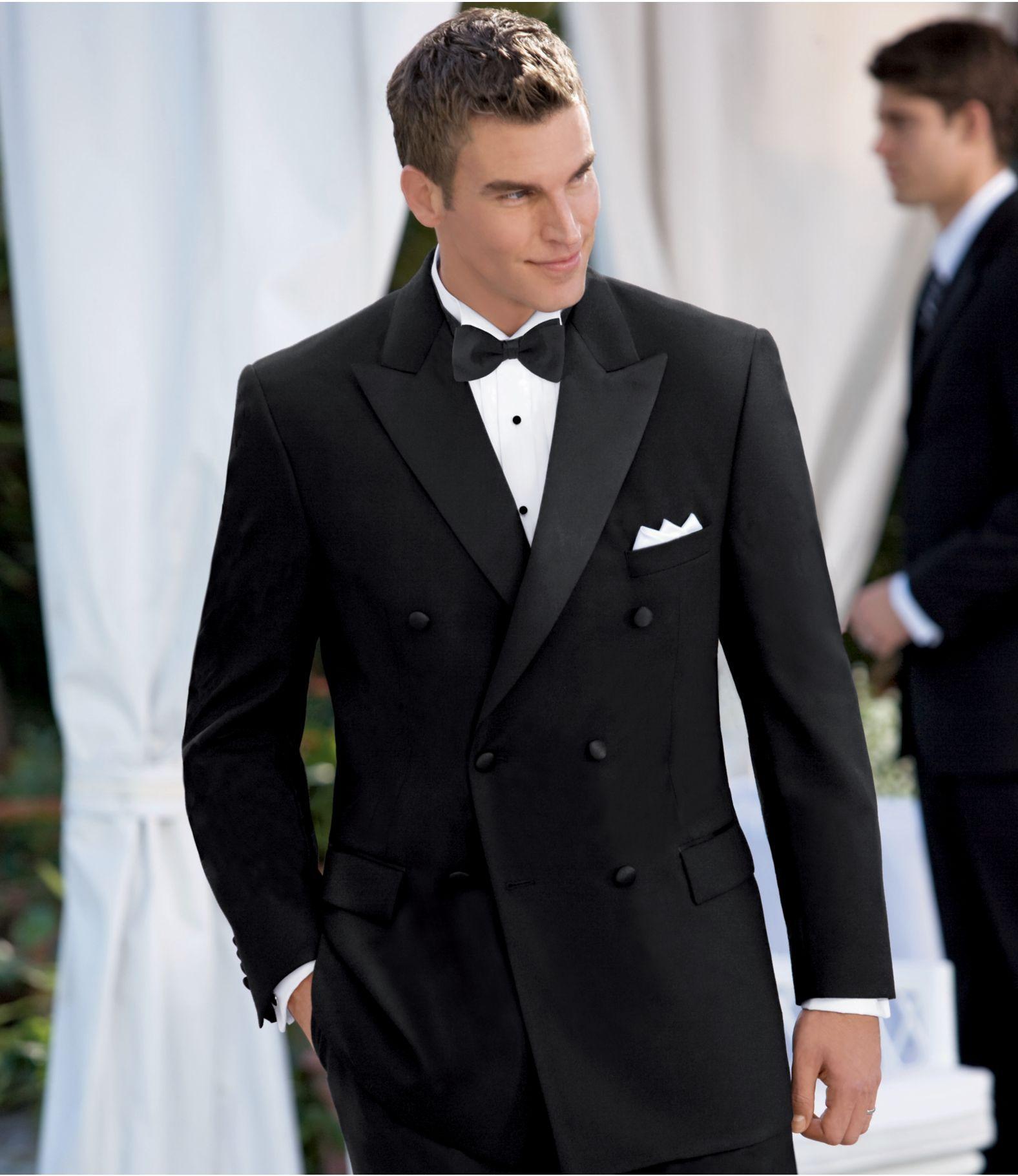 Men S Wedding Fashion Black Double Ted Tuxedo Jacket