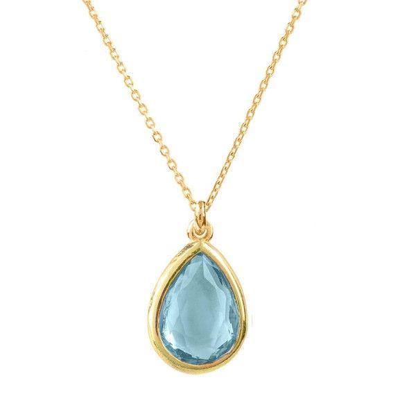 Latelita London Pisa Mini Teardrop Necklace Gold Peridot udBDkuJpvS