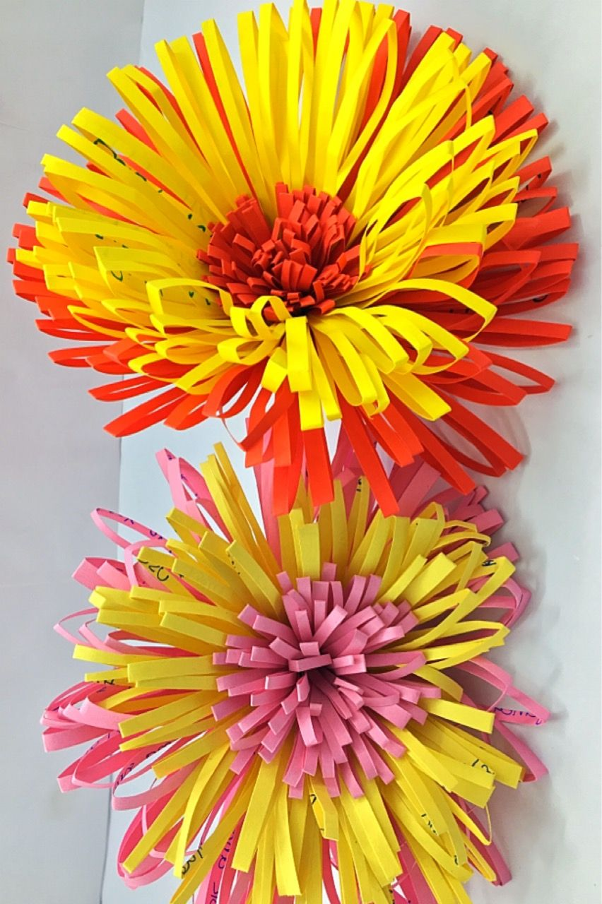 Paper flowers Easy paper flowers with old used sheets
