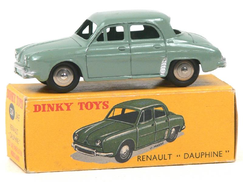 Lot de 4 Pneus 15//8 Noir pour Dinky toys RENAULT DAUPHINE 24E ET 524